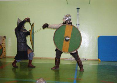 Główną atrakcją był pokaz walki.